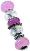 Lillian Rose Assorted Beads, Pink, Set of 7