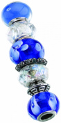 Lillian Rose Assorted Beads, Blue, Set of 7