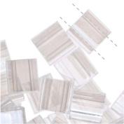 Miyuki Tila Beads 7.2 Gramme Tube 2-hole Flat Square Crystal Lustre