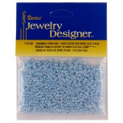 10/0 Ceylon Seed Beads, Lt. Blue, 20 Gramme Pkg
