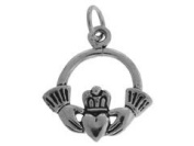 Sterling Silver Hands in Heart Charm