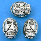 Skull Beads Antique Silver Plated Beading 15mm Approx 3