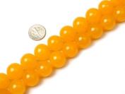 Round Yellow Jade Beads Strand 38cm Jewellery Making Beads