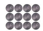 Grey Black Diamond Transparent Czech Glass Round Beads 4mm