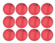 Cherry Red Opaque Czech Glass Round Beads 6mm