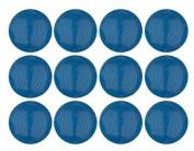 Capri Blue Opal Czech Glass Round Beads 10mm