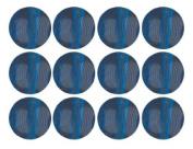 Dark Aqua BlueTransparent Czech Glass Round Beads 8mm