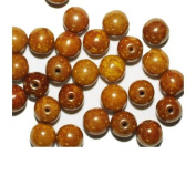 Lustre Gold Picasso Round Czech Pressed Glass Beads