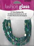 "13""/34cm Rainbow Mix Beads - Fashion Glass by Cousin - #3576605"