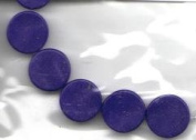 "6 pc 10MM Rec. Lapis 2.4"" Disc Beads - Semi-Precious by Cousin - #25814-12"
