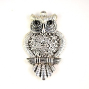 Oversized Alloy Owl Scarf Charm Pendant Accessories