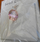 Bead Gallery 20X16MM Rose CZ Oval Pendant