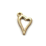Stones and Findings Exclusive Gold Vermeille Heart Charm