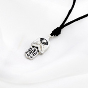 Necklace Pendant Jewellery Hamsa (Hand of God) 3 Handmade Silver Pewter