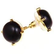 Bubble Stud Earrings Black