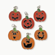 Pumpkin Face Enamel Charms - Art & Craft Supplies & Craft Charms