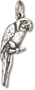 Sterling Silver Parrot Charm with Split Ring - Item #3404