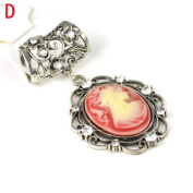 Beauty Pendant Scarf Charm with Rhinestones, 5 Colours, Pt-632, 10-18 Days Delivery