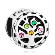 Silver Plated Pugster Family Charm Spacer Fit Pandora Bead