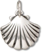 Sterling Silver Seashell Charm with Split Ring - Item #3357