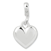 Sterling Silver Polished Heart Enhancer, Best Quality Free Gift Box Satisfaction Guaranteed