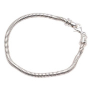 High Quality European Style Silver Charm Bracelet 22cm Screw End Fits Most Major Charm Beads