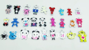 Panda and Bear Mixed Lot Charms - Lot of 15 - DIY Jewellery Crafting 8mm