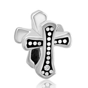 Silver Plated Pugster Celtic Claddagh Irish Cross Charms Fits Pandora Bead Bracelet