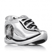 Silver Plated Pugster Running Shoe European Symbol Charm Bead Fits Pandora Bracelet