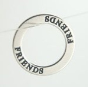 Sterling Silver Affirmation Ring Charm - Friends