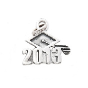 Sterling Silver Class of 2013 Graduation Cap Charm