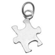 Sterling Silver Autism Awareness Puzzle Piece Charm Pendant