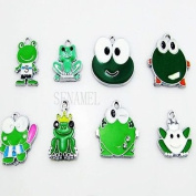 Frog Keroppi Mixed Lot Charms - Lot of 15 - DIY Jewellery Crafting 8mm