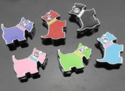 15 PC Cute Dog Puppy Mixed Lot of Slide Charms - DIY Jewellery Crafting 8mm Enamel Pendants