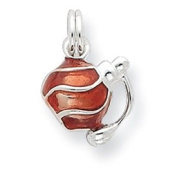 Genuine IceCarats Designer Jewellery Gift Sterling Silver Enamel Perfume Bottle Charm