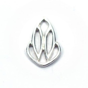Stones and Findings Exclusive Sterling Silver Iris Blossom Charm