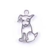 Stones and Findings Exclusive Sterling Silver Dog Charm
