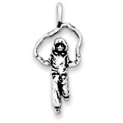 Sterling Silver Antiqued Jump Rope Charm