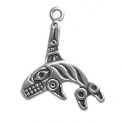 Gift Boxed Sterling Silver Killer Whale Charm Ocean Animal Jewellery