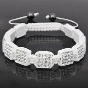 10mm Clear Rhinestone Shamballa Style Bracelet.
