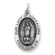 Sterling Silver Our Lady of Guadalpue Medal. Metal Wt- 1.94g