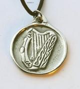 Celtic Harp - Pewter Pendant - Bard, Bardic, Irish, Scottish, Music Jewellery