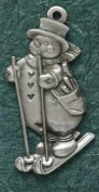 Hampshire Pewter - Skiing Snowman