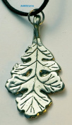 White Oak Leaf - Pewter Pendant - Strength and Standing Tall, Forest, Nature, Leaves, Oak Tree Necklace