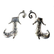 Euro Style Jacky Clown's Shoes Alloy Silver Charms for Diy. Pt-515,6 Pcs Per Lot