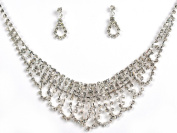 Crystal Necklace Set for Bridal Wedding Prom Pageant N1Y97