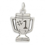 16x12mm #1 Trophy Charm .925 Sterling Silver