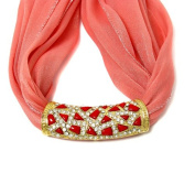 Scarf Charm with Red Accents