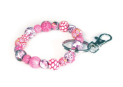 Viva Beads Pink Paradise Keychain | Clip 10mm | - Handmade Clay Beads Jewellery 05702022