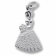 Rembrandt Charms, Bridesmaid / Flower Girl Charm in Solid Sterling Silver or Gold, Engravable